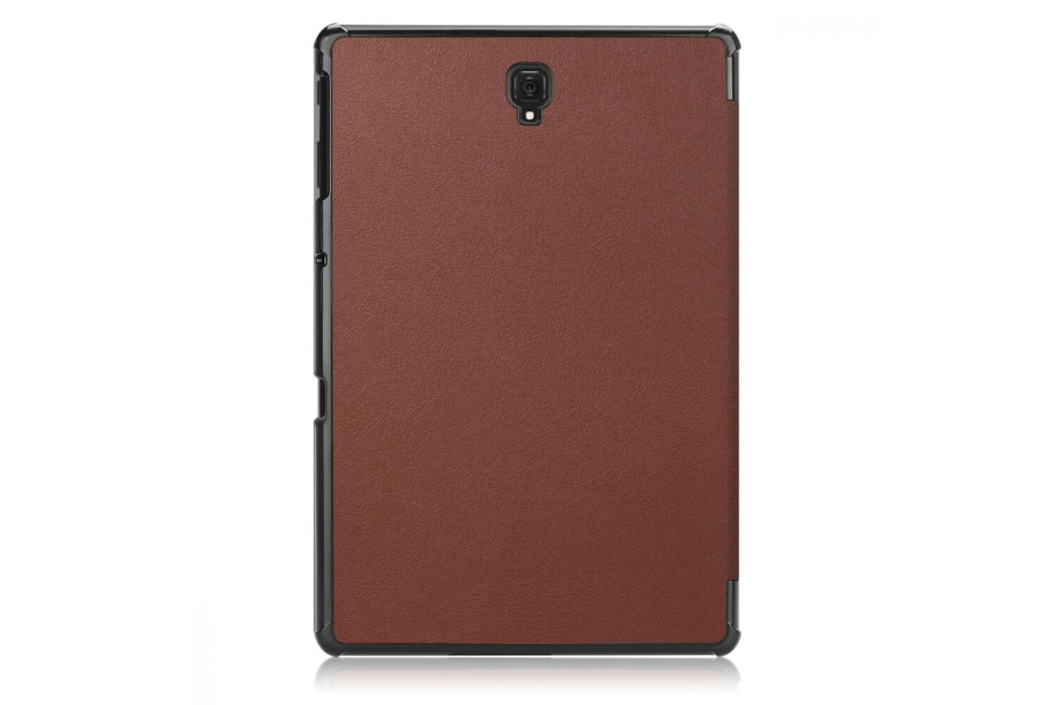 book cover galaxy tab a 10.5 tri-fold brown