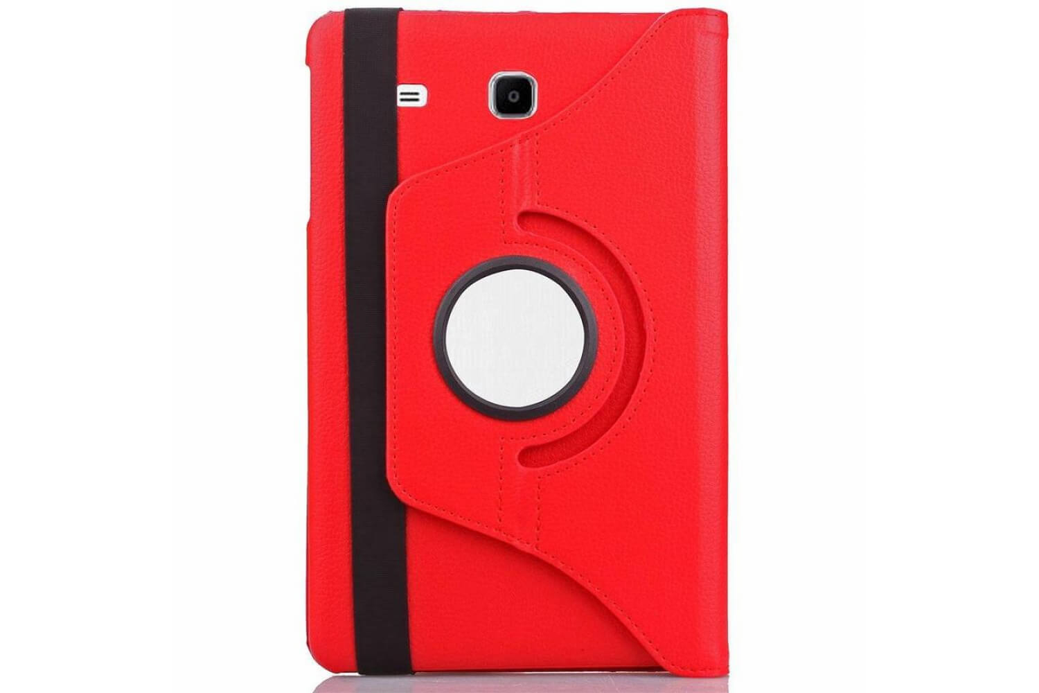 samsung galaxy tab e 9.6 inch swivel cover red