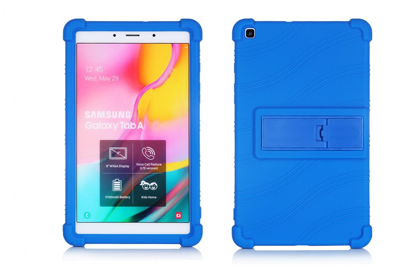 Samsung Tab A 8 inch 2019 kinderhoes back cover schokbestendig Blauw