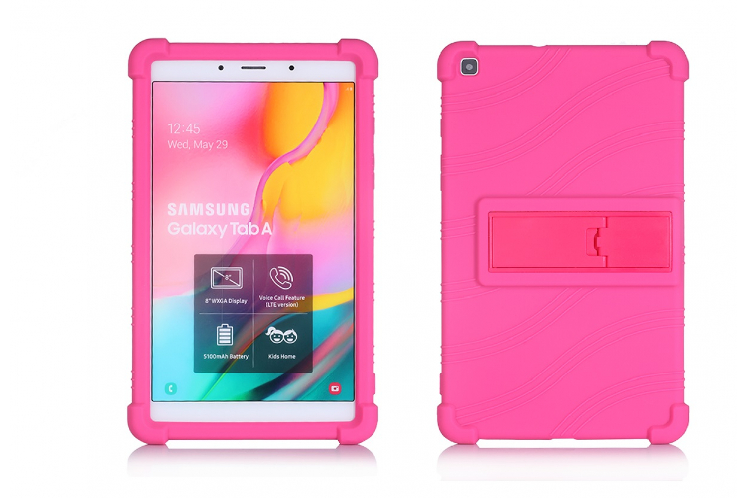 Samsung Tab A 8 inch 2019 kinderhoes back cover schokbestendig Roze