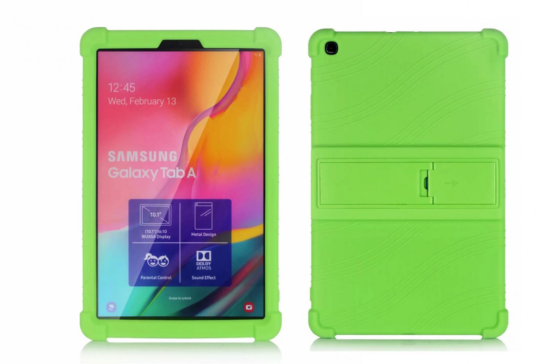 Samsung Tab A 10.1 2019 kinderhoes backcover schokbestendig Groen