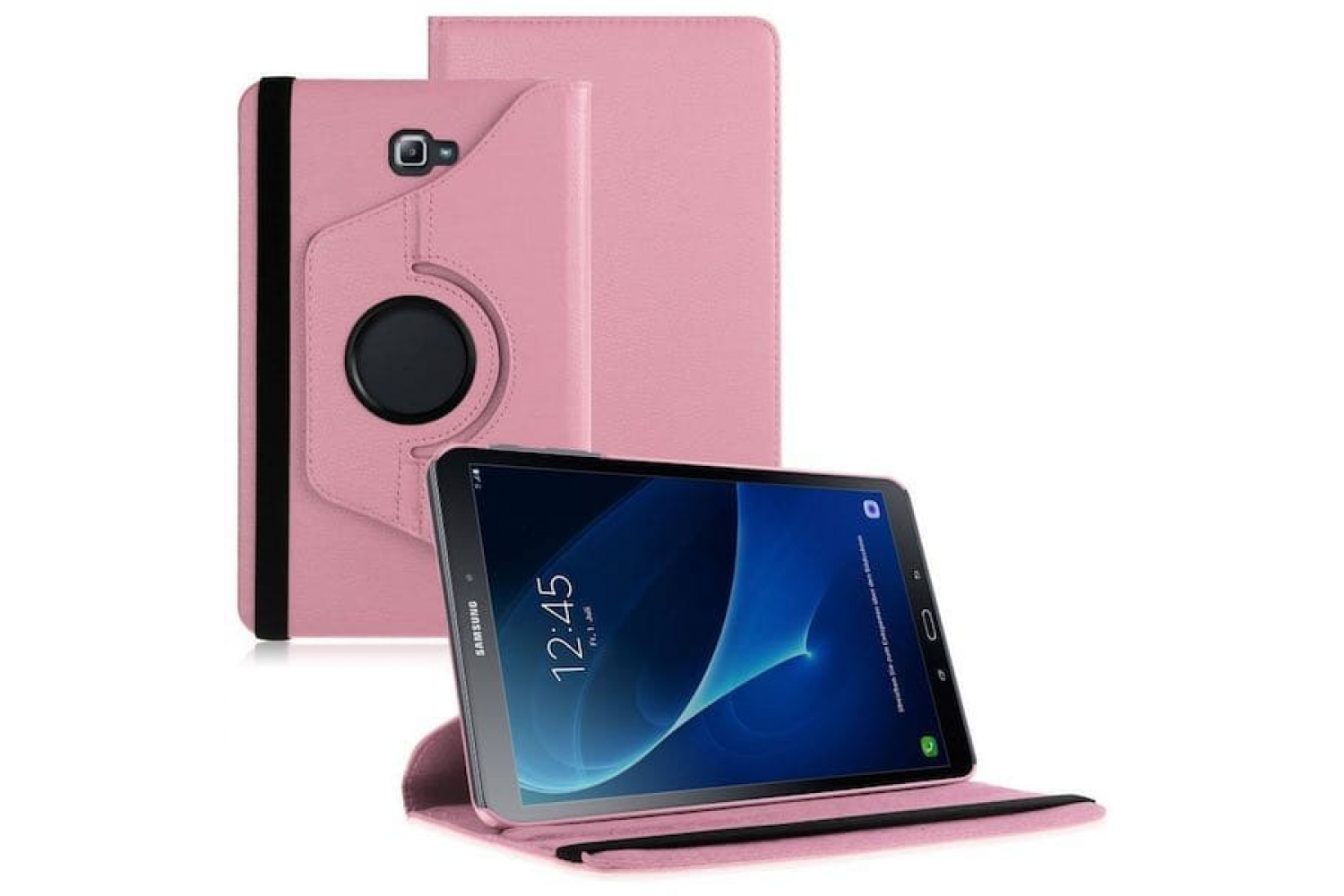Samsung  Tab A 10.1 PU Leren Draaibare hoes roze T580 T585