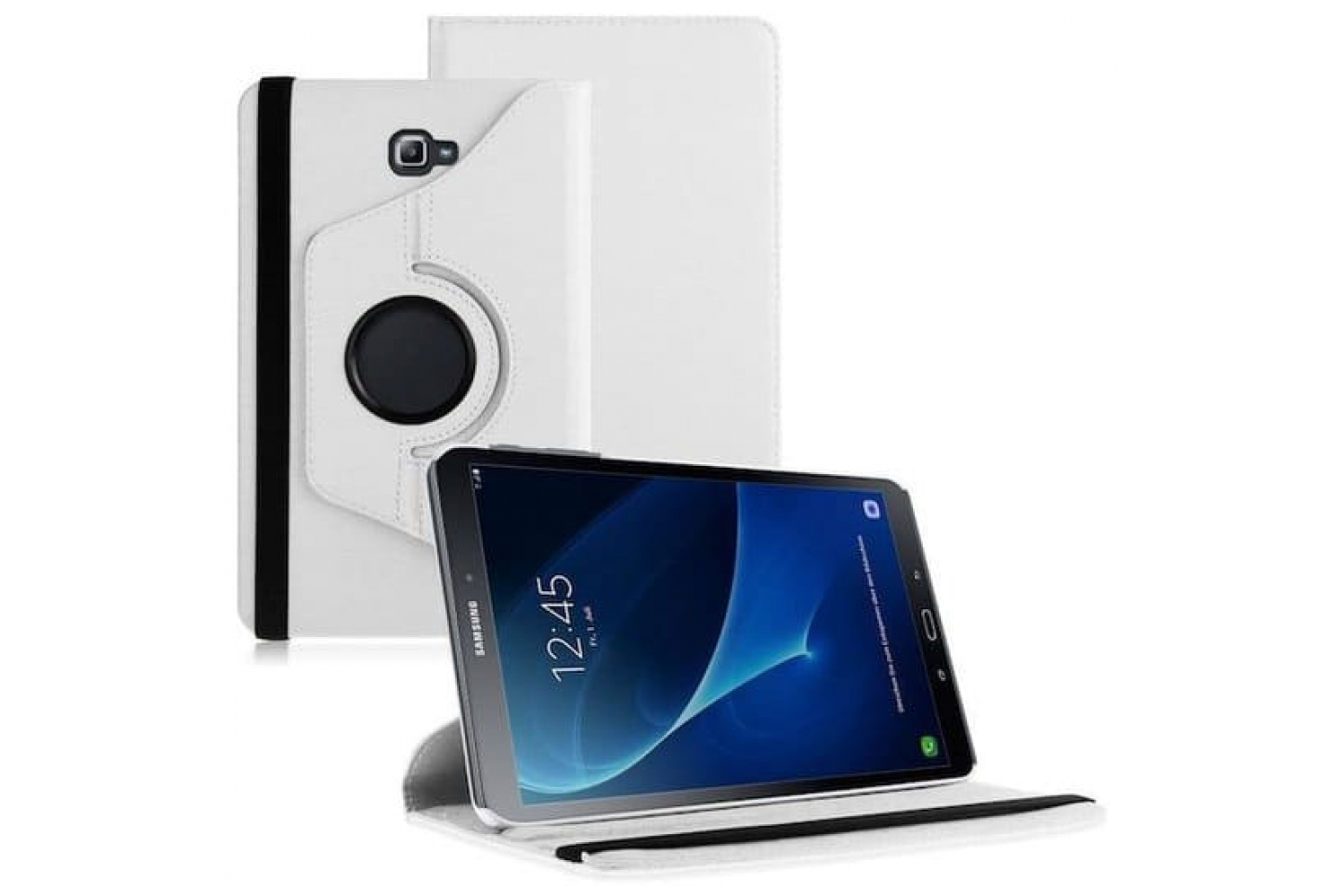 Samsung  Tab A 10.1 PU leren Draaibare hoes wit T580 T585