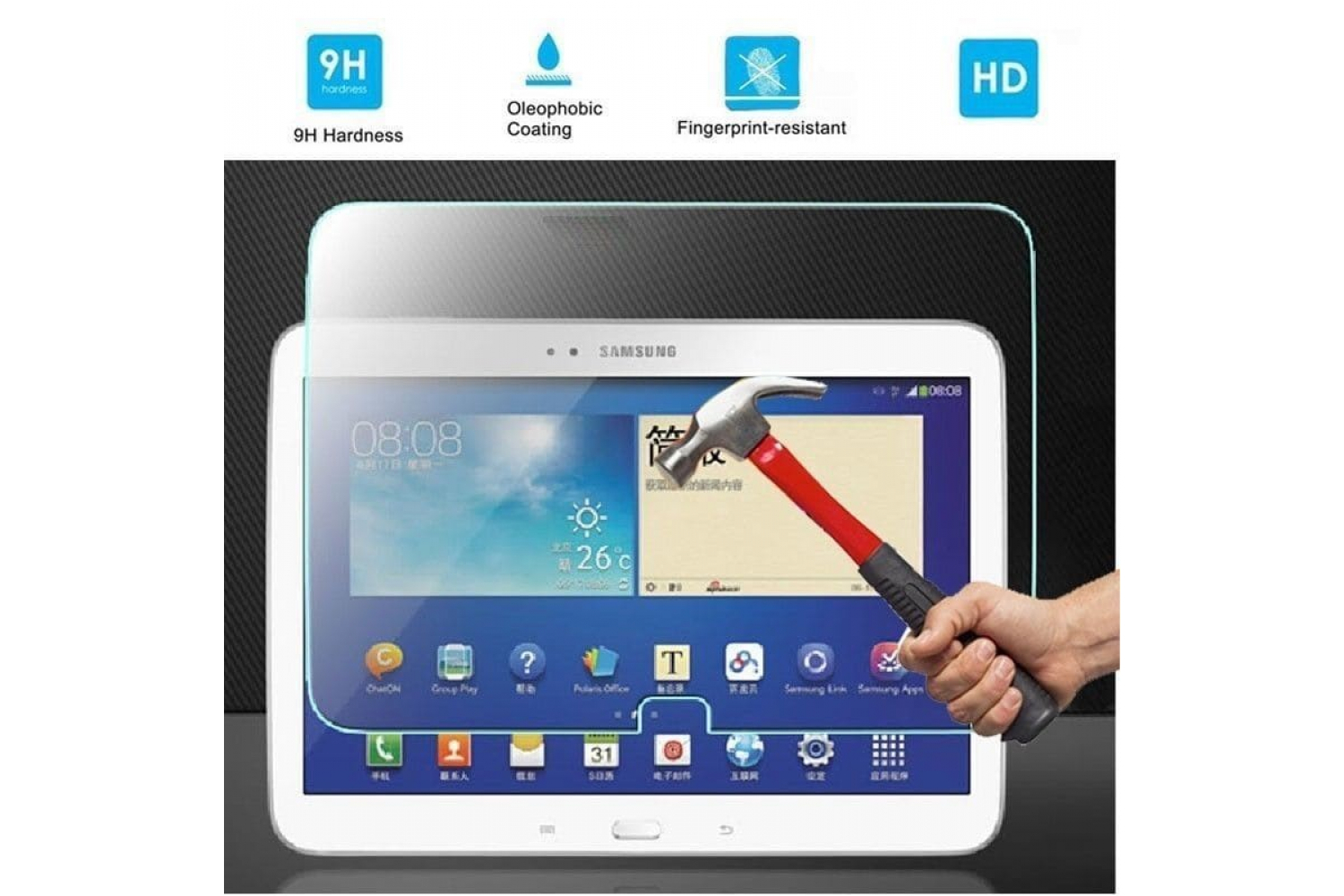 Tempered Glass Samsung Galaxy Tab 3 10.1 inch P5200 P5210
