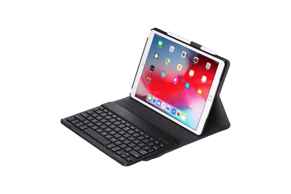 iPad 2019 10.2 inch hoes met toetsenbord ultra slim zwart