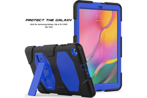 Samsung Tab A 10.1 model 2019 Bumper Case met ingebouwde kickstand blauw