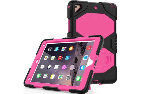 iPad 2018 9.7 Bumper Case met ingebouwde kickstand roze