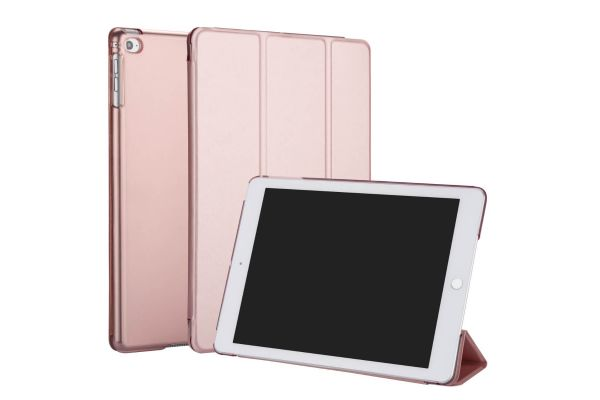 iPad 2017 9.7 inch Hard Tri-Fold Book Cover Rose Goud