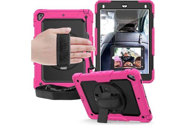 iPad 2018 9.7 inch draaibare Bumper Case roze
