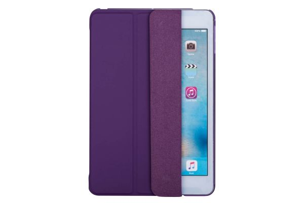 iPad Mini 4 Hard Tri-Fold Book Cover Paars