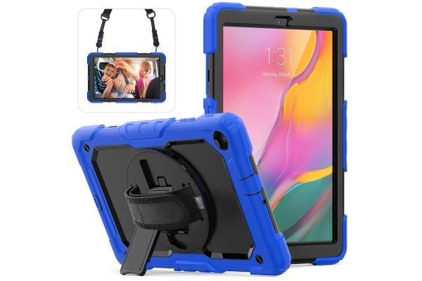 Samsung Tab A 10.1 2019 draaibare Bumper Case blauw