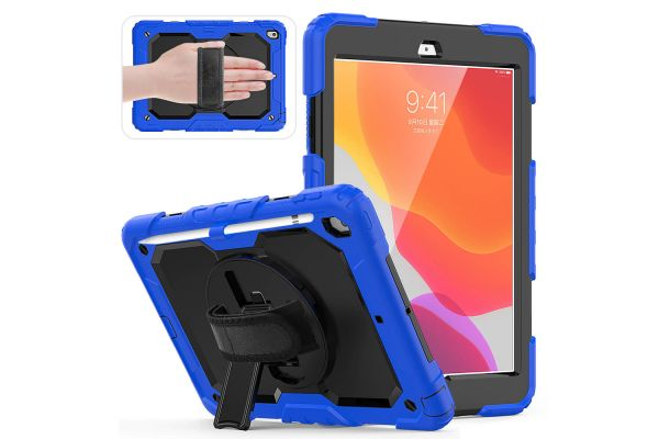 iPad 2020 10.2 inch draaibare Bumper Case Blauw