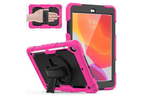 iPad 2020 10.2 inch draaibare Bumper Case Roze