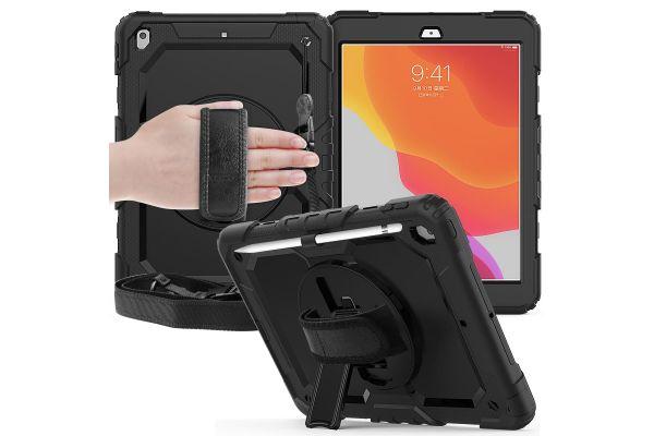 iPad 2020 10.2 inch draaibare Bumper Case Zwart