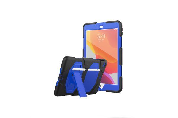 iPad 2019 10.2 inch Bumper Case met ingebouwde kickstand blauw