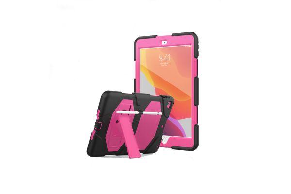 iPad 2020 10.2 inch Bumper Case met ingebouwde kickstand roze