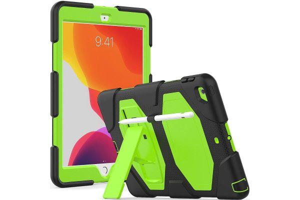 iPad 2020 10.2 inch Bumper Case met ingebouwde kickstand Groen