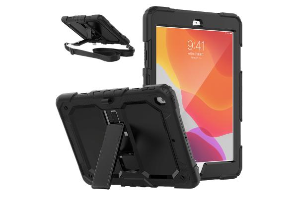 iPad 2020 10.2 inch Bumper Case met schouderband zwart