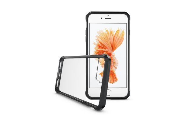 Iphone 7 Plus Back cover Transparant Air Hybrid Zwart