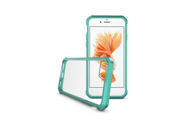 Iphone 8 Back cover Transparant Air Hybrid Mintgroen