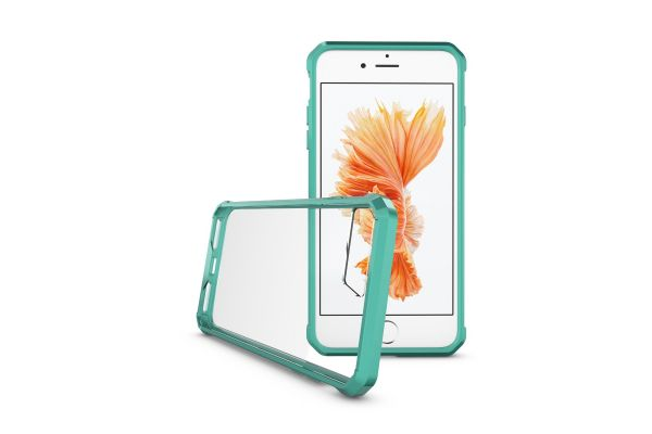 Iphone 8 Plus Back cover Transparant Air Hybrid Mintgroen