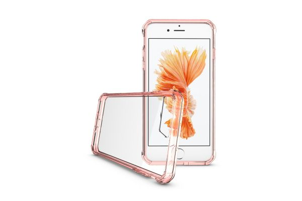 Iphone 8 Plus Back cover Transparant Air Hybrid Rose goud