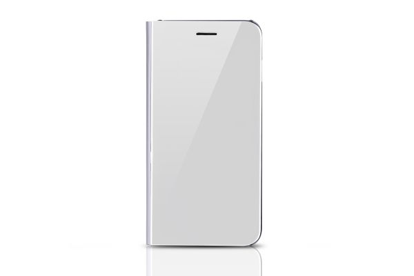 Iphone 8 Plus Clear View mirror case Zilver