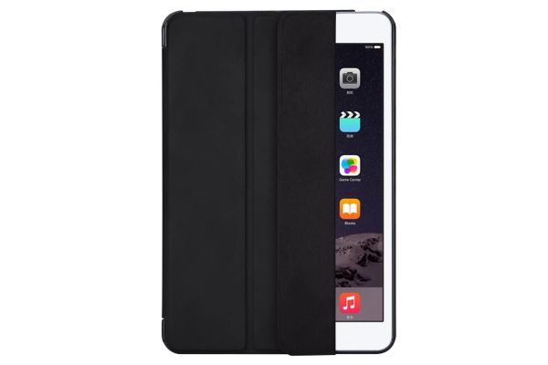 iPad Mini 1-2-3 Hard Tri-Fold book cover zwart