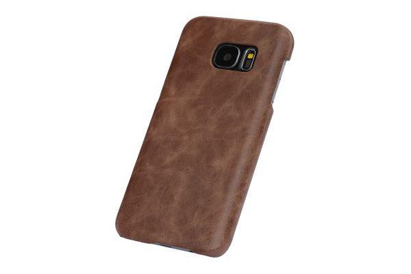 Samsung S7 echt lederen backcover Bruin