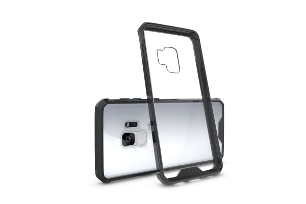 Samsung Galaxy S9 Back cover Transparant Air Hybrid Zwart