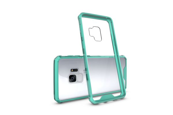 Samsung Galaxy S9 Back cover Transparant Air Hybrid Mintgroen