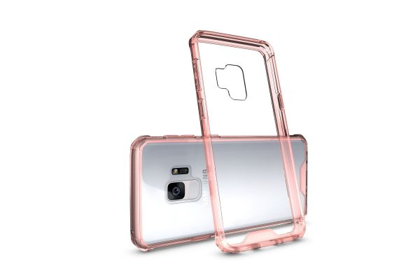 Samsung Galaxy S9 Back cover Transparant Air Hybrid Rose goud