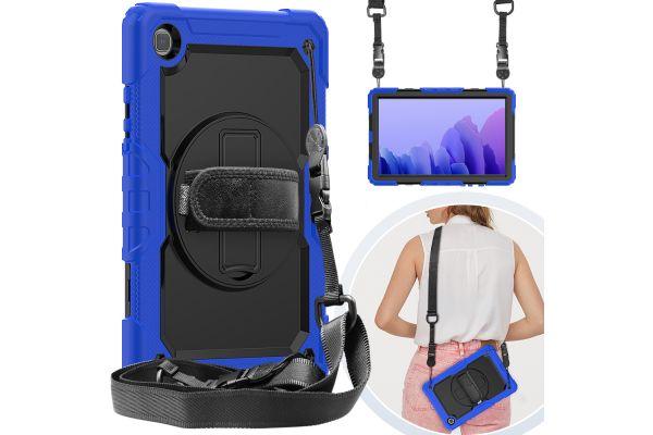 Samsung Tab A7 10.4 inch model 2020 draaibare Bumper Case blauw