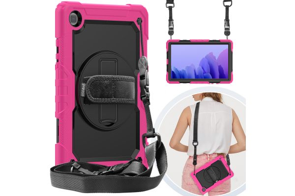 Samsung Tab A7 10.4 inch model 2020 draaibare Bumper Case roze