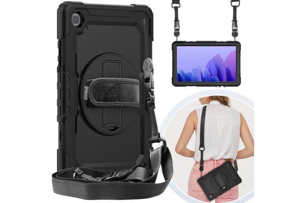 Samsung Tab A7 10.4 inch model 2020 draaibare Bumper Case zwart