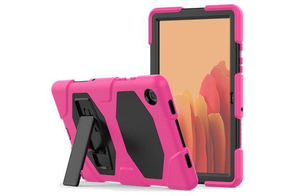 Samsung Tab A7 model 2020 10.4 inch Bumper Case met ingebouwde kickstand Roze