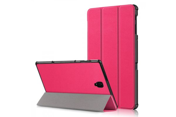 book cover galaxy tab a 10.5 tri-fold pink