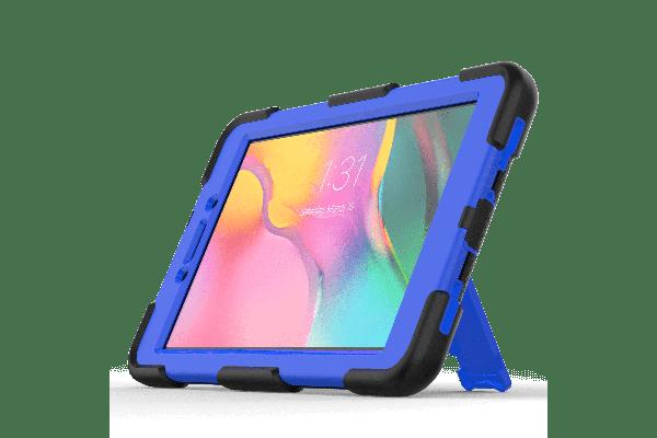 Samsung Tab A 8.0 model 2019 Bumper Case met ingebouwde kickstand blauw