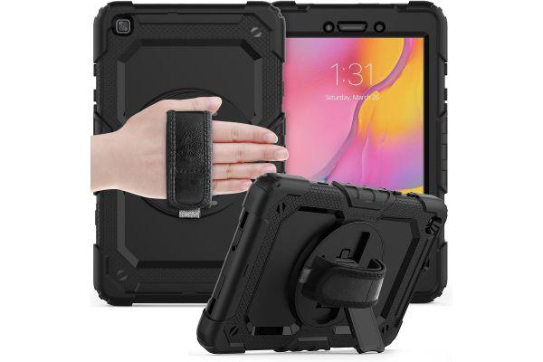 Samsung Galaxy Tab A 8.0 model 2019 draaibare Bumper Case zwart