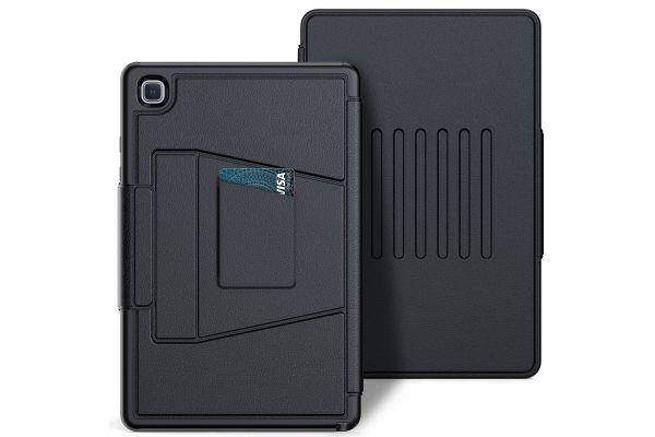 Samsung Galaxy Tab A7 10.4 inch tablethoes - bescherming met 3 lagen - Magnetisch - met kaarthouder - Zwart
