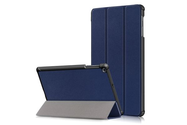 Samsung Tab A 10.1 2019 hard Tri-Fold book cover Donker blauw