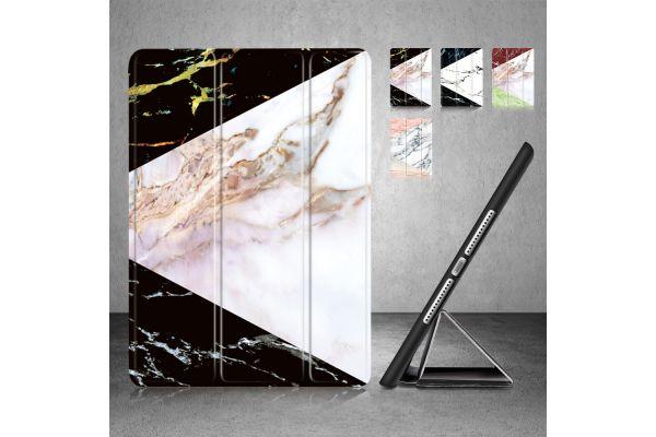 iPad 2018 9.7 inch Smart Cover Marmer Look Multi Color Zwart