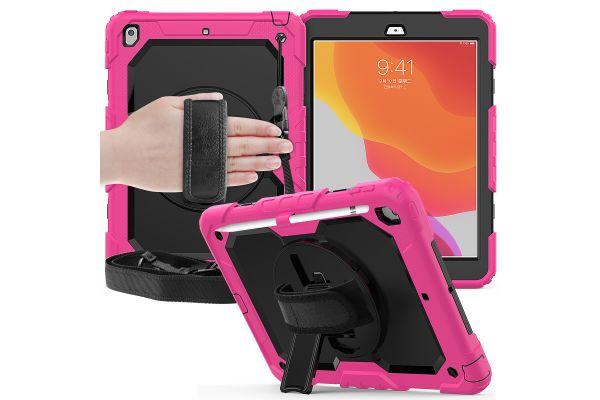 iPad 2019 10.2 inch draaibare Bumper Case Roze