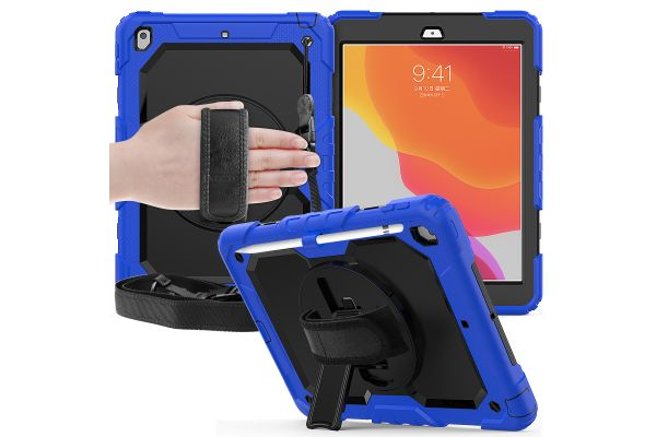 iPad 2019 10.2 inch draaibare Bumper Case Blauw