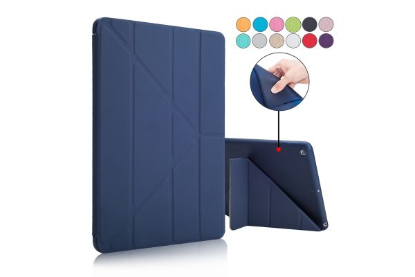 iPad 9.7 (2018) Book Cover Origami donker blauw