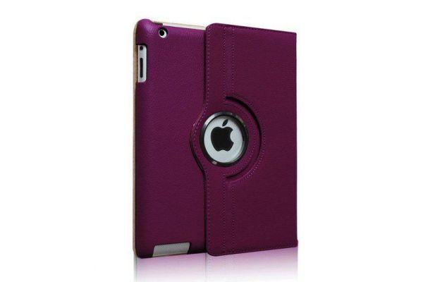 iPad Mini 1-2-3 PU Leer Draaibare Hoes Paars