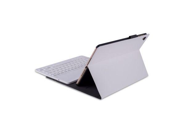 iPad 2018 9.7 inch hoes met toetsenbord ultra slim Deluxe Wit