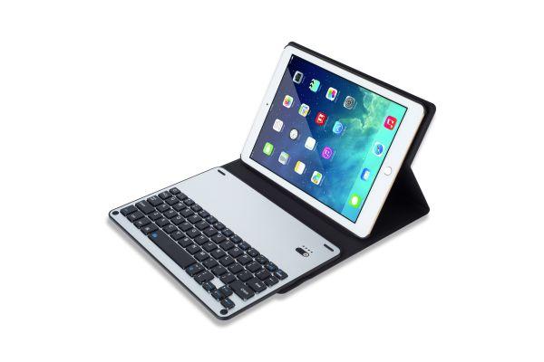 iPad 9.7 2018 hoes met toetsenbord ultra slim blauw