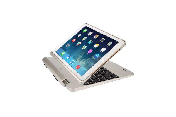 iPad Air 2 Case Bluetooth verlicht Afneembaar Toetsenbord Zilver