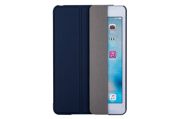 iPad Mini 4 Hard Tri-Fold Book Cover Donker Blauw